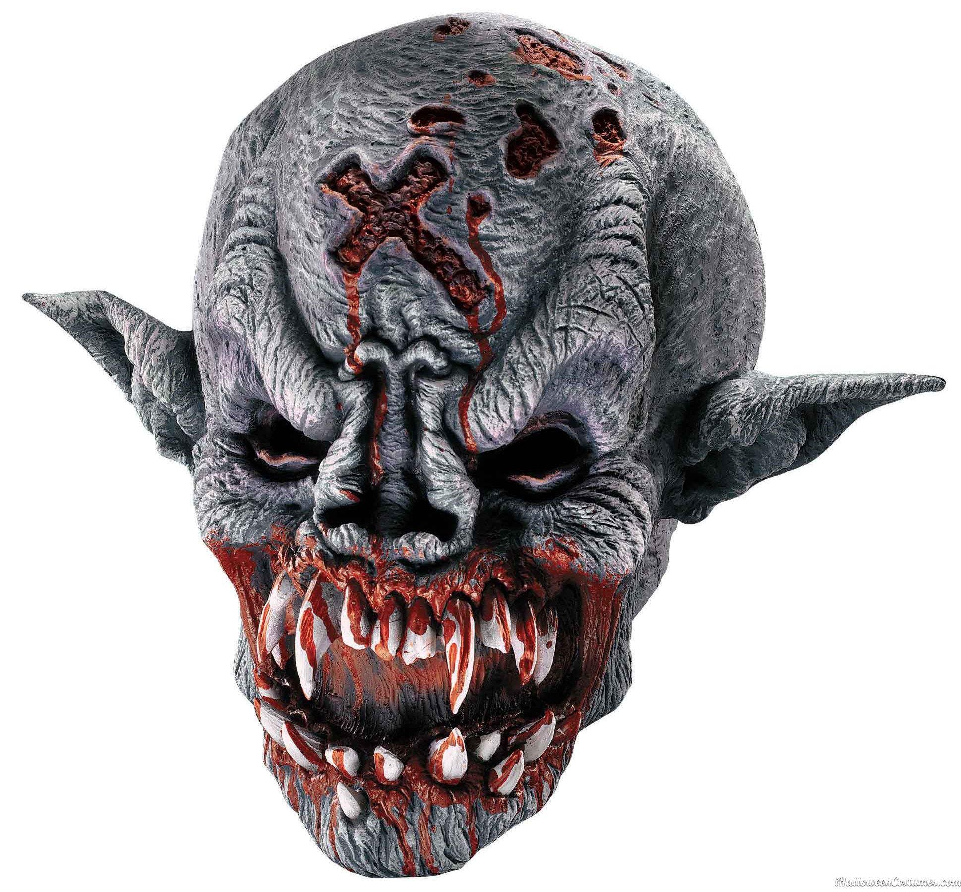 Vampire Demon Mask Adult Scary Horror Halloween Masks - Halloween ...