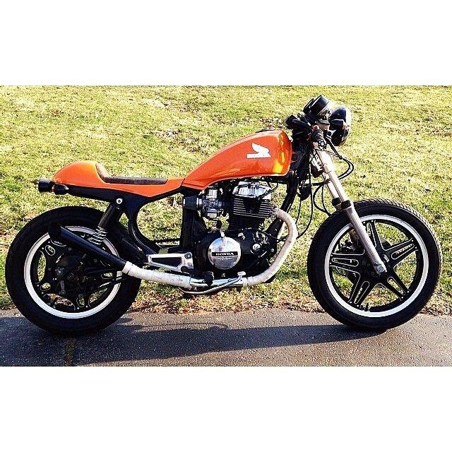 1982 Honda CB450SC Nighthawk Cafe Racer Custom Made Fiberglass Seat And Leather Pan Exhaust Flipped Down Handlebars New Lighting