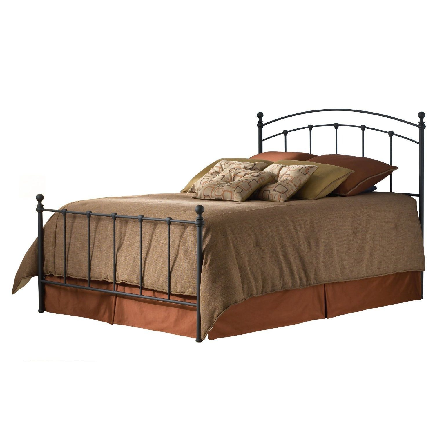 twin size metal bed frame with headboard and footboard in matte
