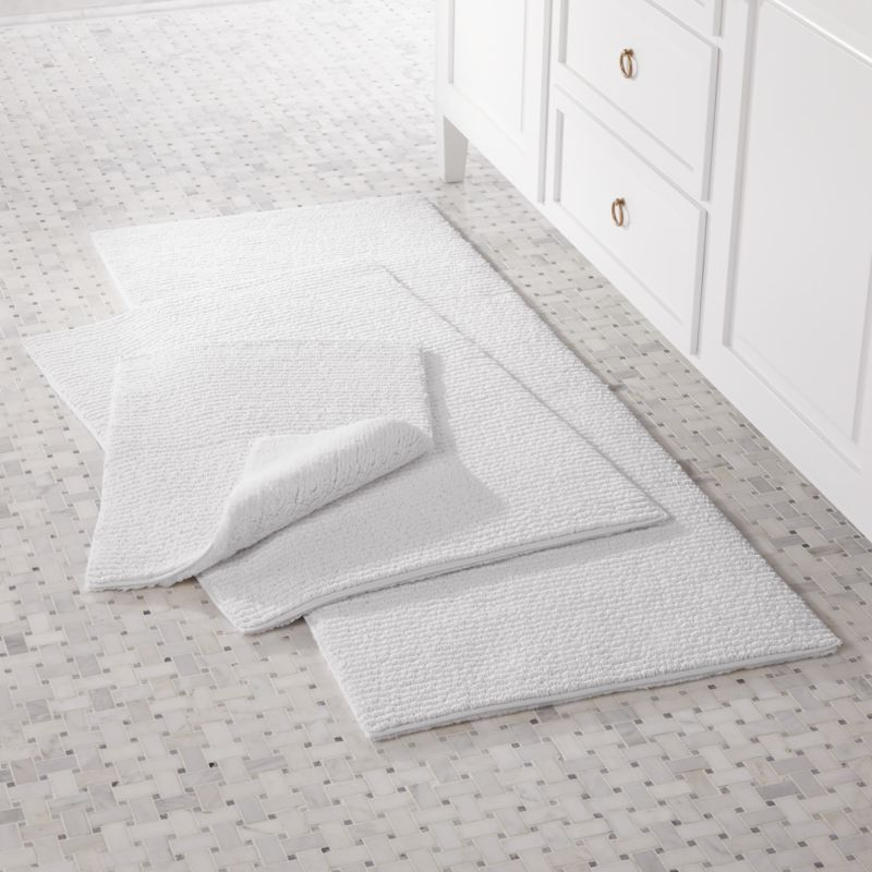 Rylan White Reversible Bath Rug Crate