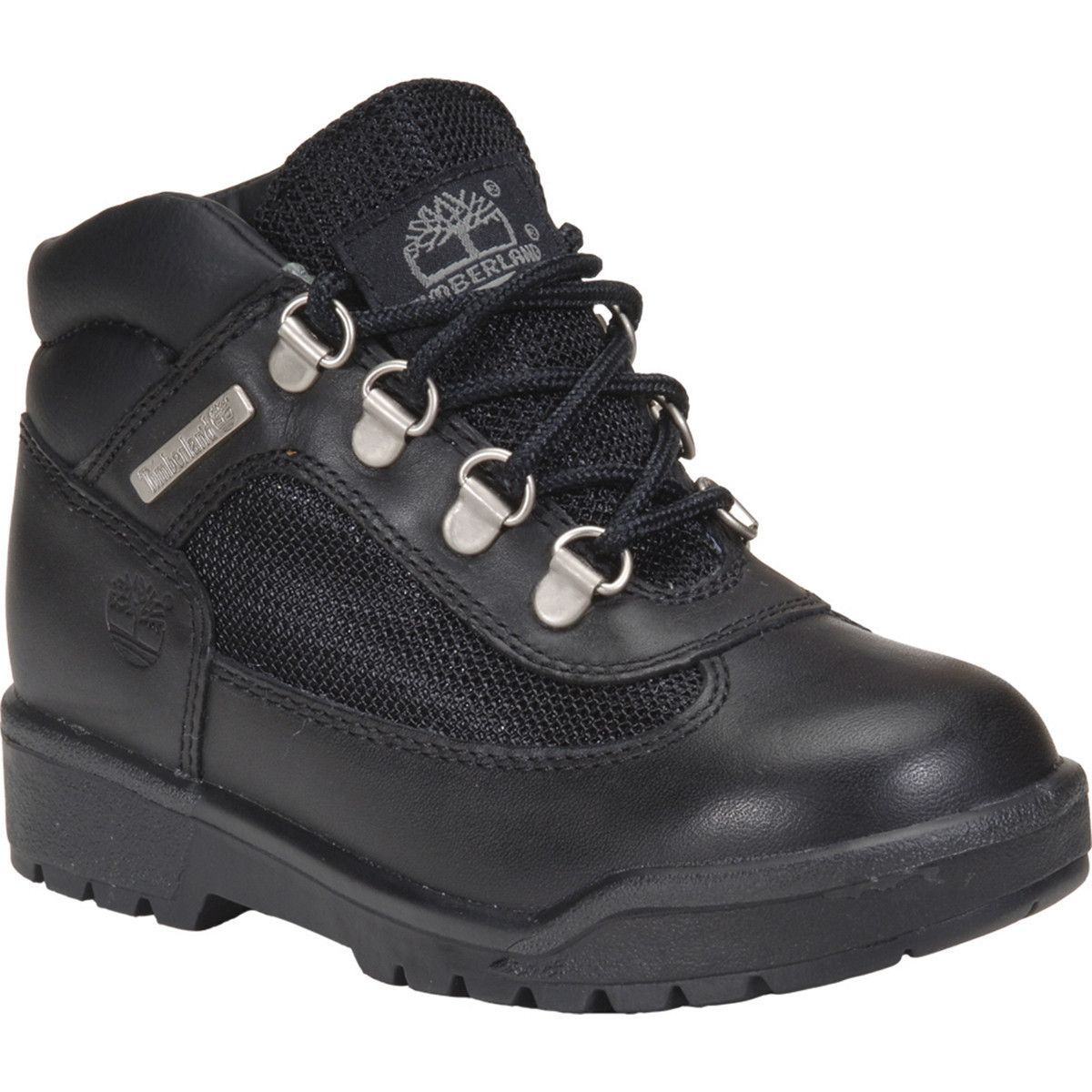 Timberland - Waterproof Field Hiking Boot (Little Kid) - Black Smooth
