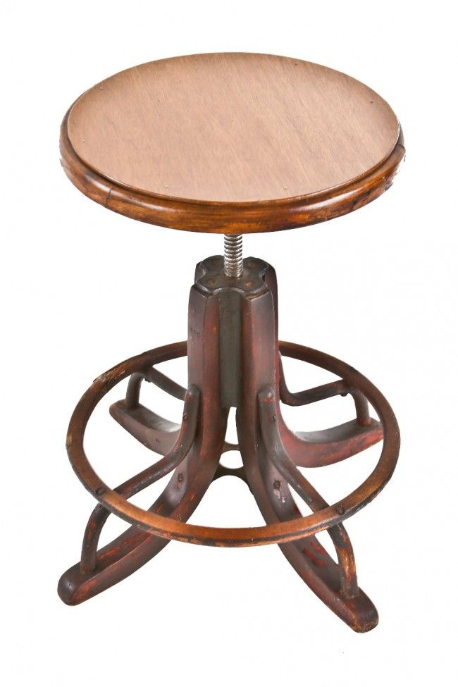 Luxury Height Adjustable Wooden Stool