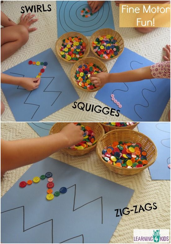 Simple And Engaging Fine Motor Activity Using Buttons Pattern Lines