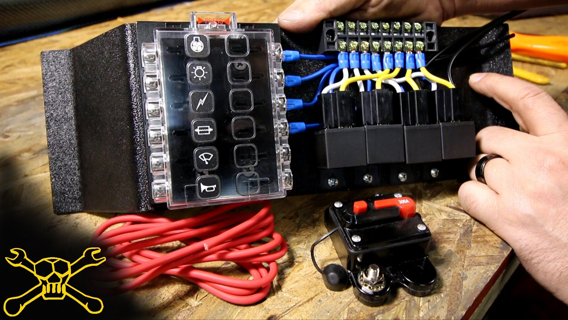 Automotive Wiring Au Falcon Diagram Stereo How To Make A Power Relay Fuse Block