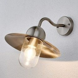 Applique d extérieur Femi en inox LAMPENWELT