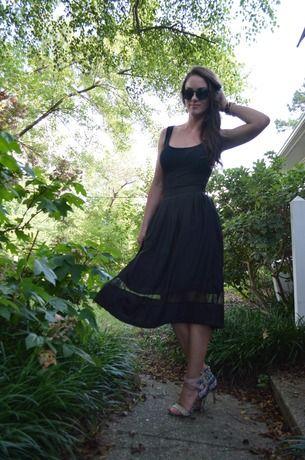 Black Elastic Waist Pleated Chiffon Skirt -SheIn(Sheinside)