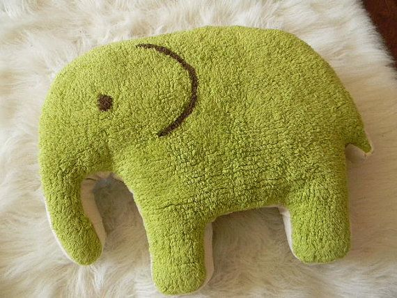 SALE elephant rug pillow with a lovely floral by pillowhappy