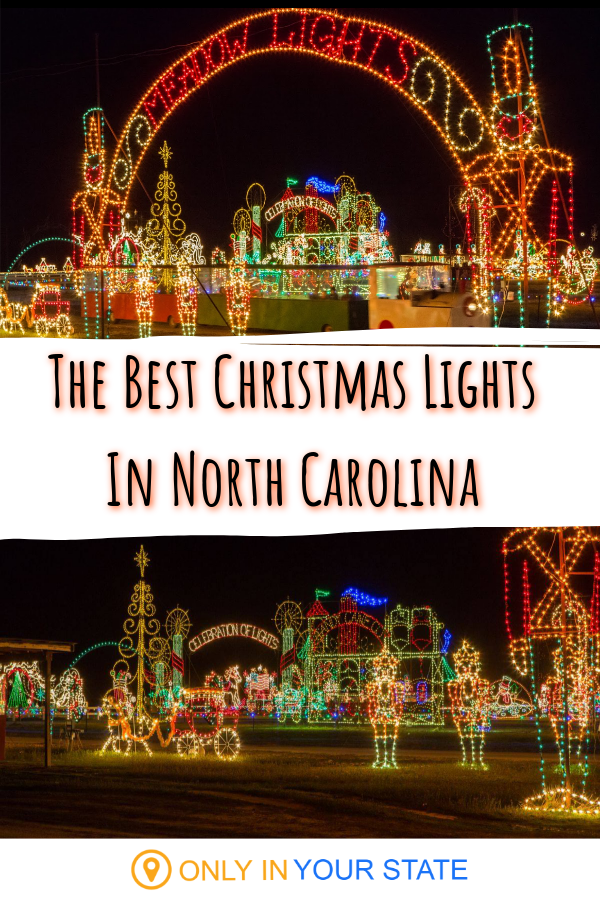 Have A Jolly Time At Meadow Lights The Largest And Oldest Lights Event In Eastern North Carolina Best Christmas Lights North Carolina Travel Best Christmas Light Displays