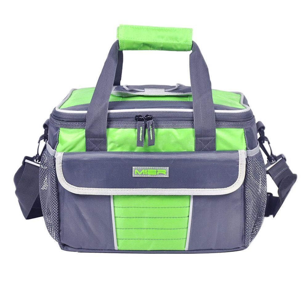 Cooler Bag Large Soft Insulated Lunch Box Picnic Tote With Dispensing Lid Green Mier Cooler Tote Bag Soft Cooler Bag Picnic Cooler