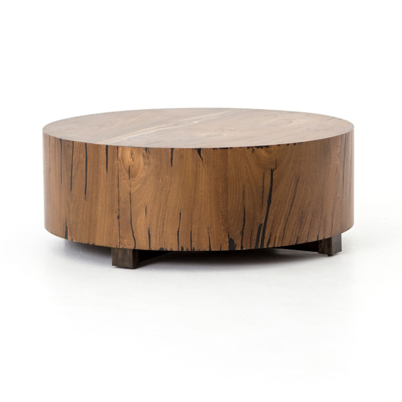 Hudson Natural Coffee Table Round Wood Coffee Table Coffee