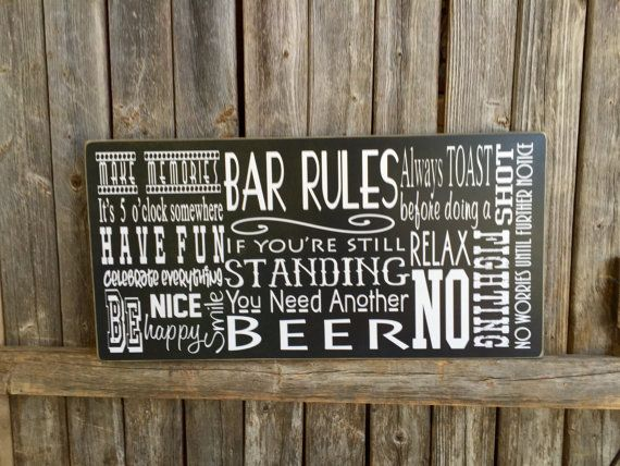 Man Cave Rules Signs : Super ultimate man cave fran s country tropical signs
