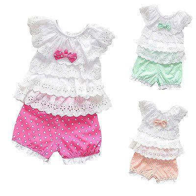 2 Piezas Niño Bebé Recién Nacido Niñas conjunto Traje top/pant bebé ropa de verano ft1627