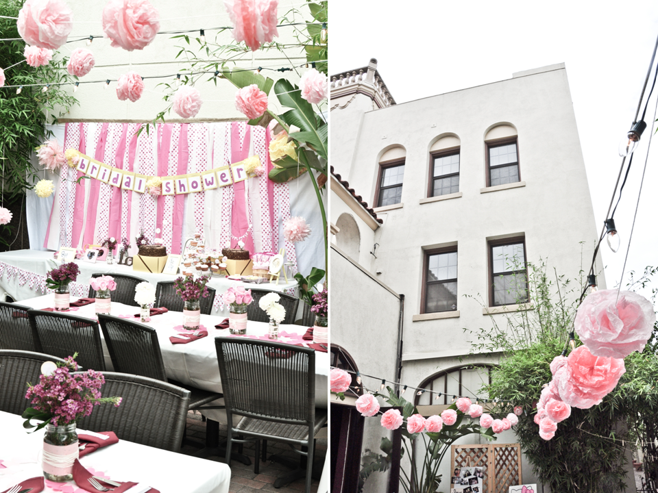 Outdoor Bridal Shower Decoration Ideas Part - 30: Outdoor-california-bridal-shower-cute-hello-kitty-theme-