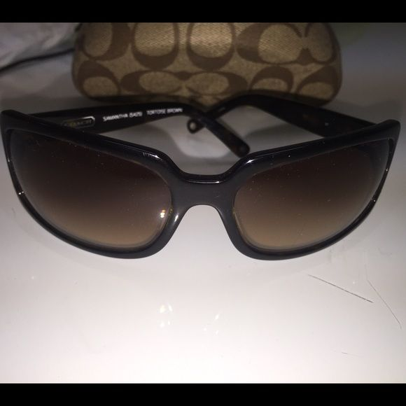 6901ecbe0b19 Coach Samantha Sunglasses Coach sunglasses. Brown tortoise Coach  Accessories Sunglasses