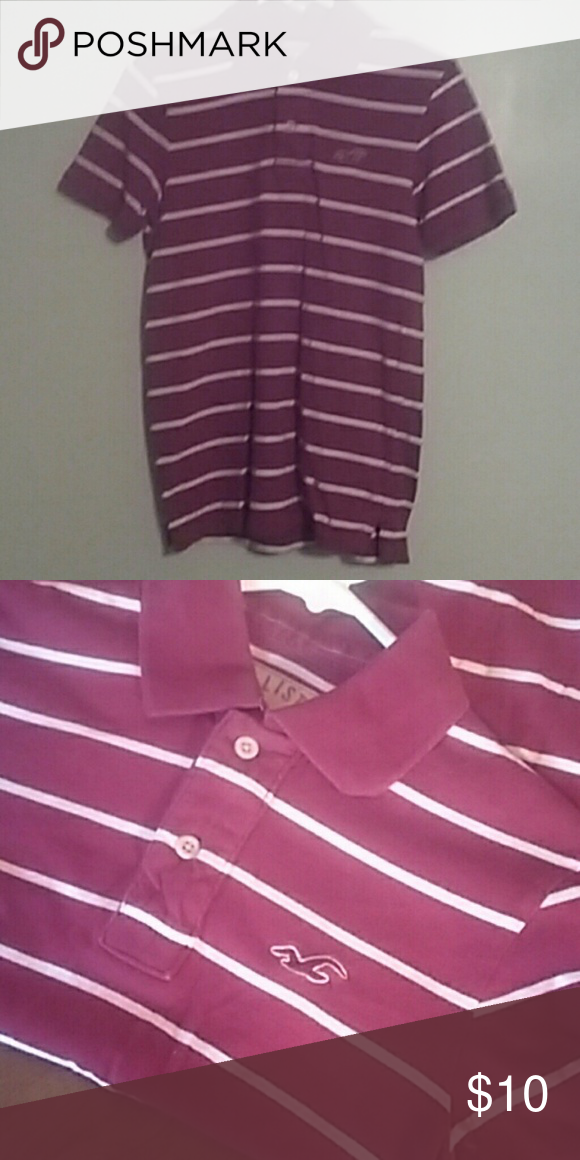 BOGO Hollister Lightly worn, in good condition. Size S. Burgundy in color Hollister Shirts Polos