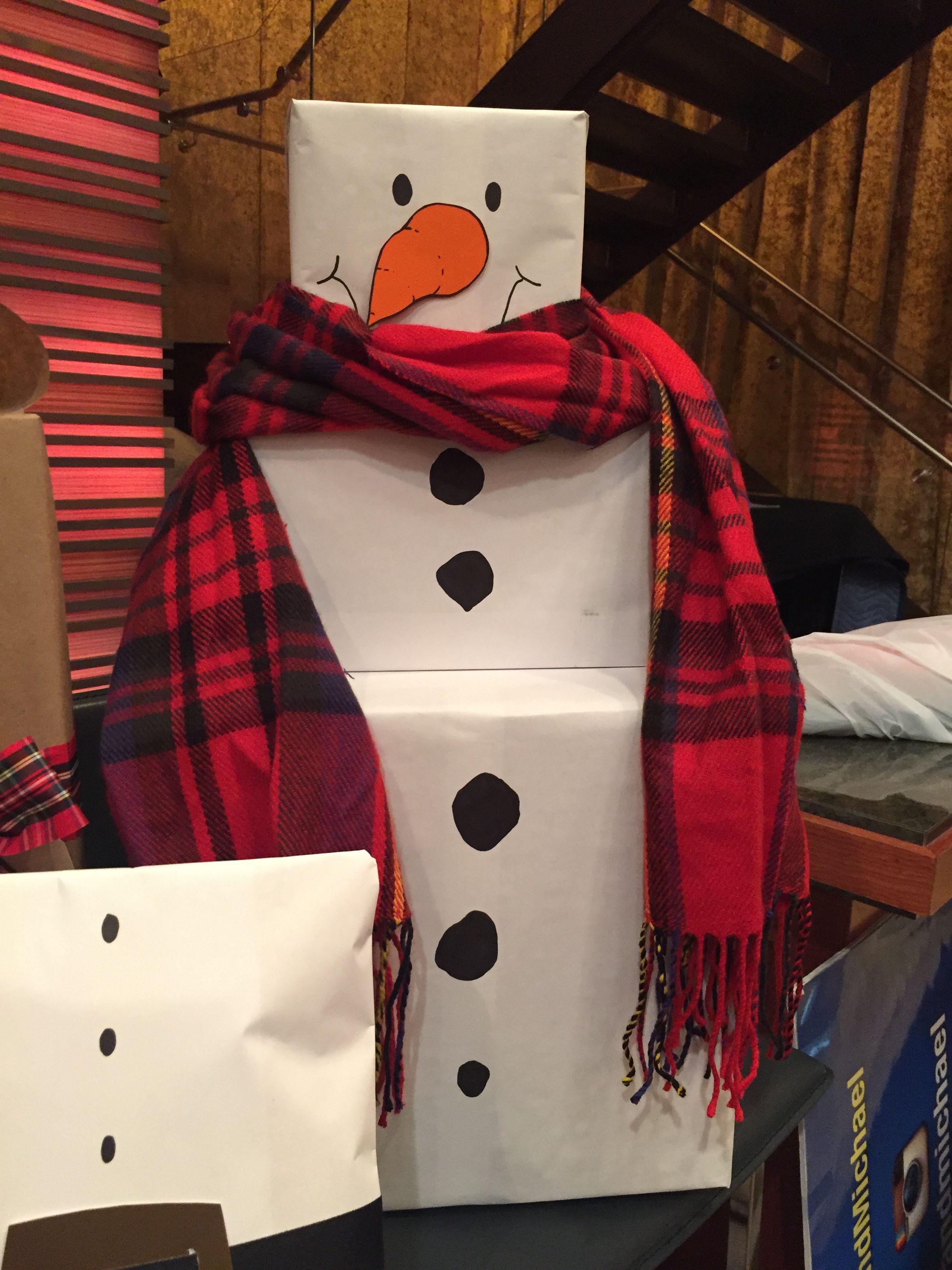 Snowman Holiday Christmas Gift Wrapping Ideas Christmas