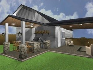 3d graphic rendering of an outdoor living space design by outdoor