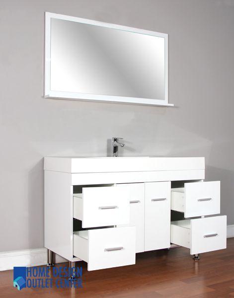 Unique 47 Inch Vanity Cabinet