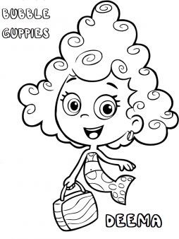 printable bubble guppies deema coloring pages - printable coloring ... - Bubble Guppies Coloring Pages Goby