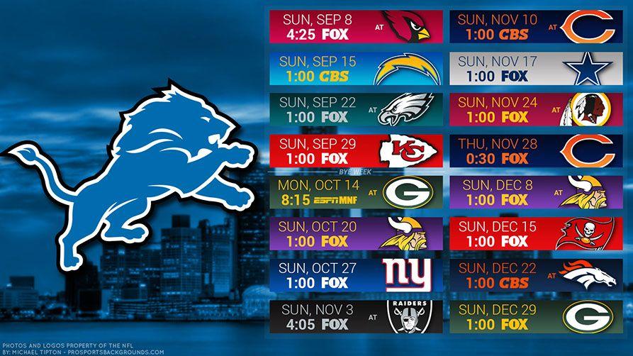 Detroit Lions 2019 Desktop Pc City Nfl Schedule Wallpaper Detroit Lions Wallpaper Detroit Lions Lions