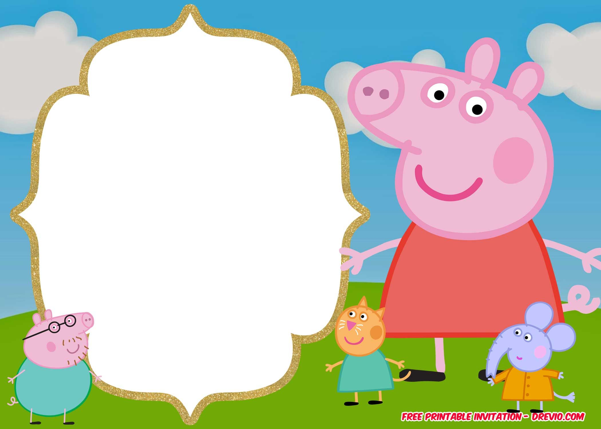 FREE Printable Peppa Pig Invitation