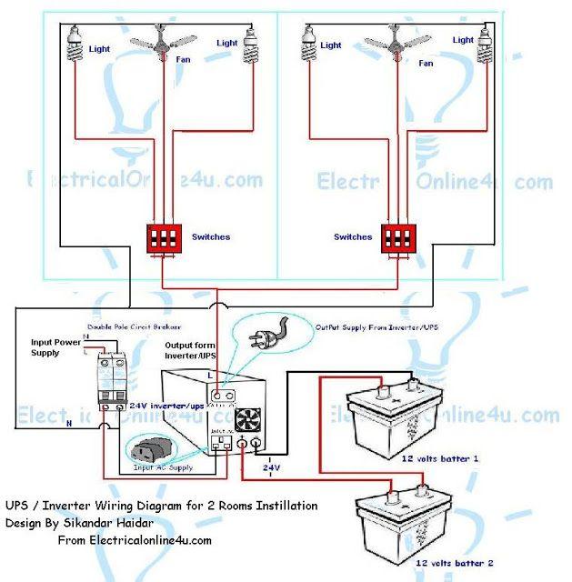 Wiring diagram ups wiring diagram ups inverter wiring instillation for 2 rooms with wiring diagram premise wiring diagram ups wiring diagram ups asfbconference2016 Gallery