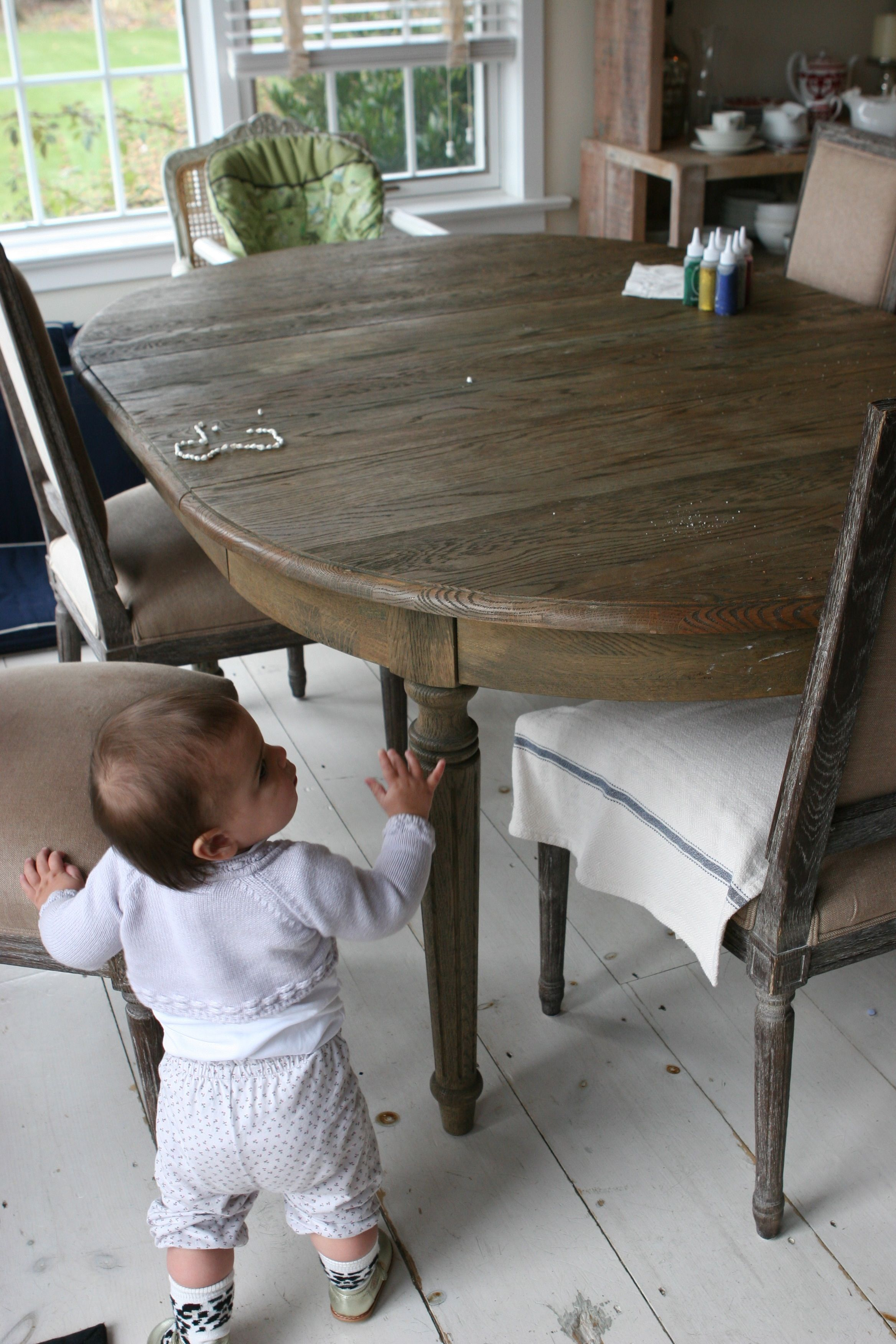 Restoration Hardware Dining Table Converts To Small Circle