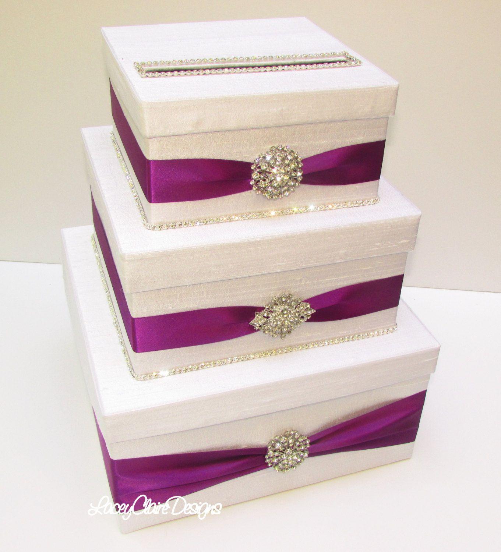 Wedding Card Box Bling Card Box Rhinestone Money Holder Custom