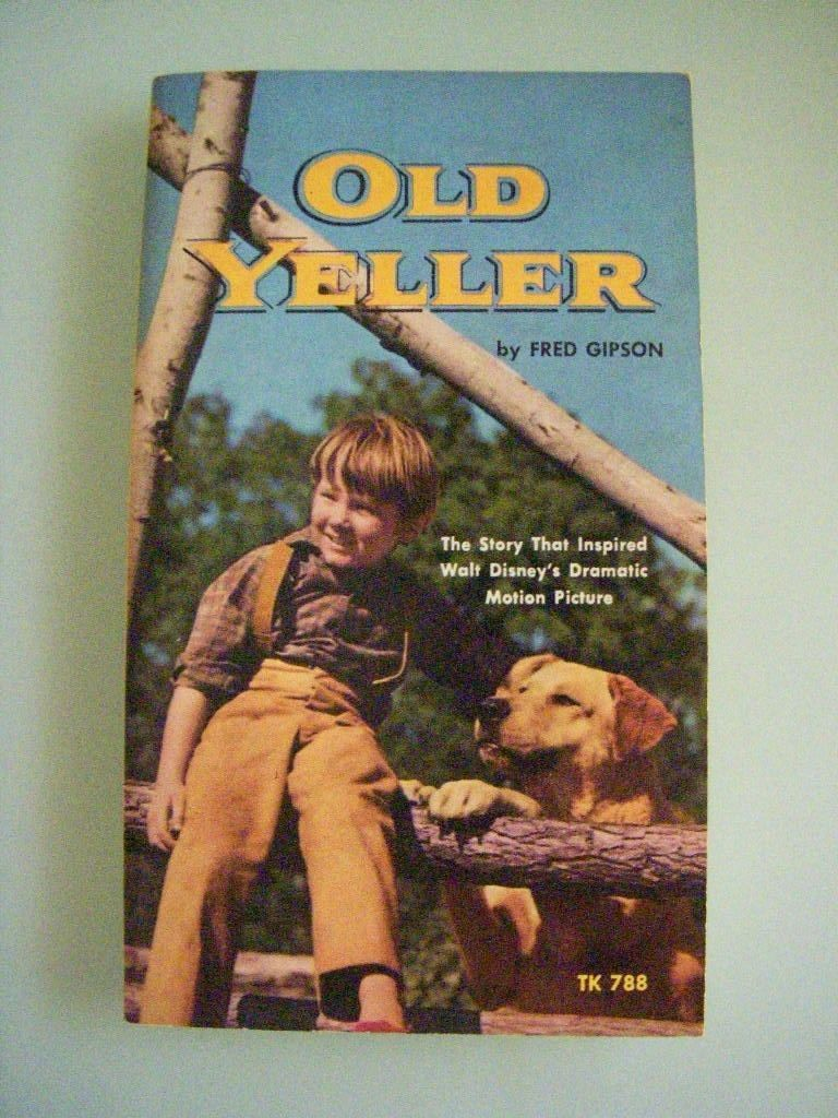 Old yeller by fred gipson 1974 vintage scholastic book