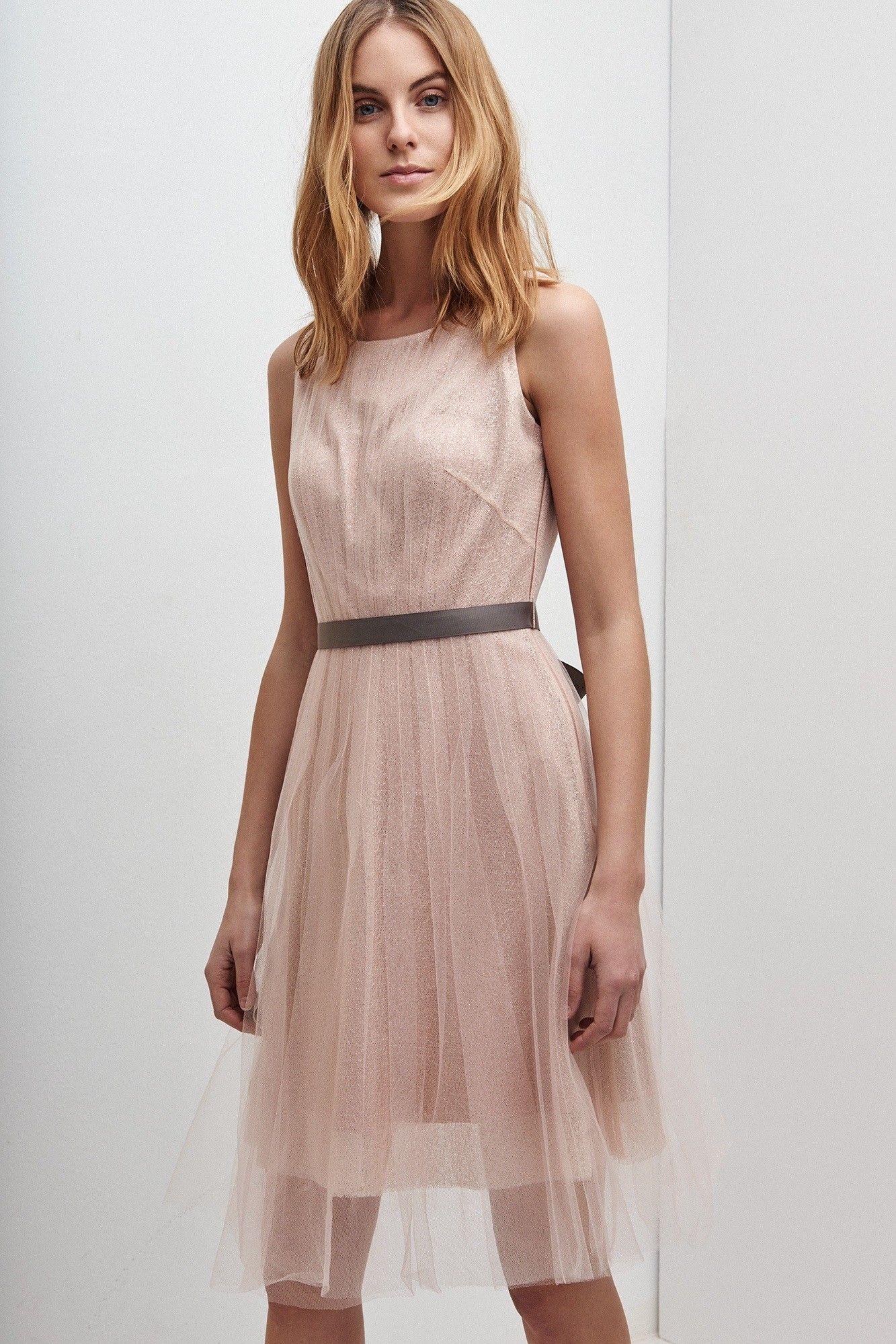 Vestido lady de tul con lazo c ctel adolfo dominguez for Vestidos adolfo dominguez outlet online