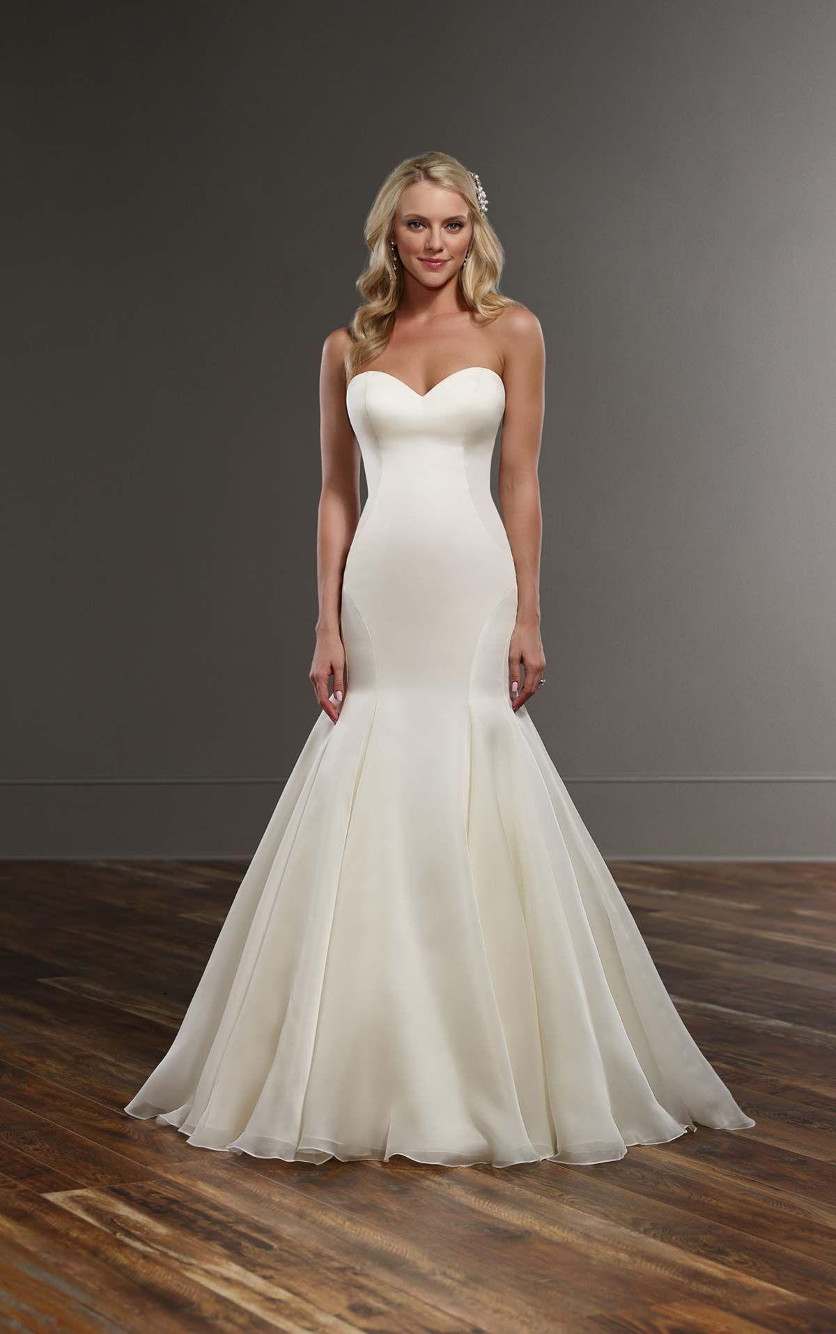 Wedding Dresses | Organza wedding gowns, Silk organza and Chapel train
