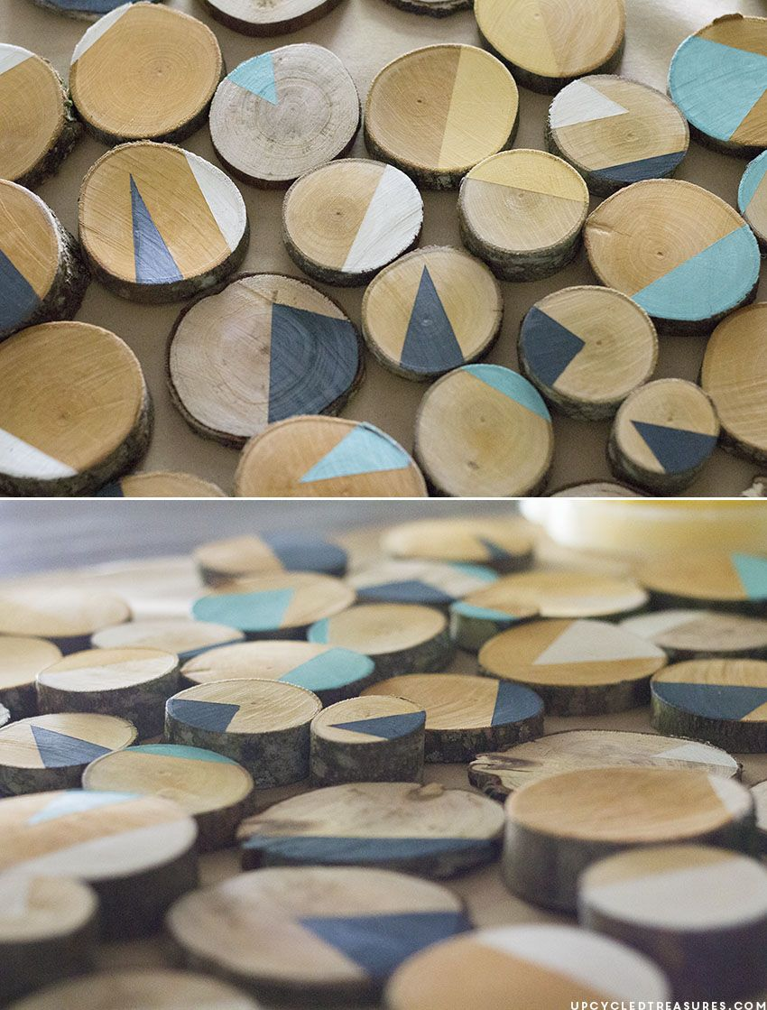 Wood Slice Wall Art DIY Pallet u reclaimed wood signsArt Pinterest