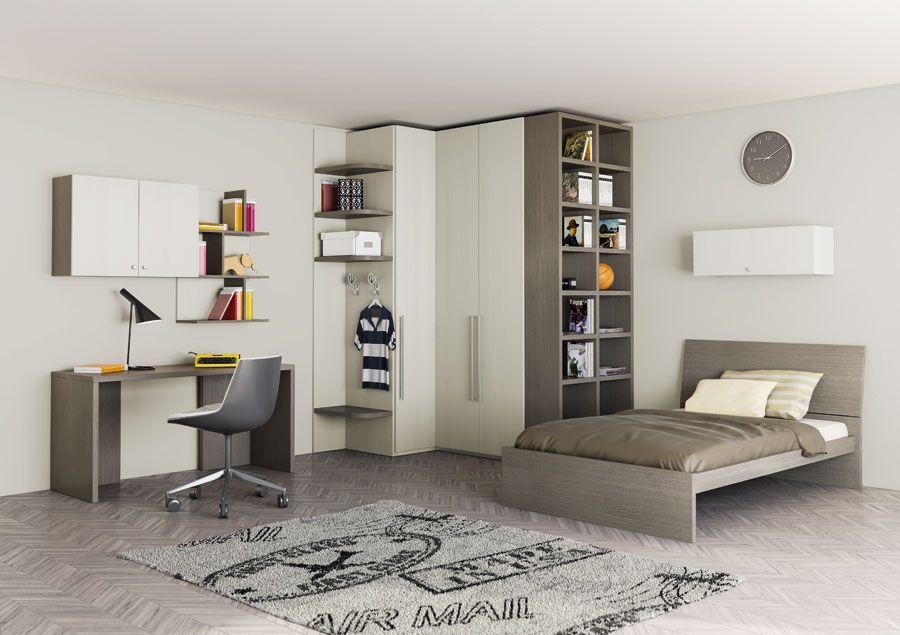 Camera roverpan e roverfog con letto tav giroletto - Libreria camera ...