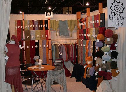 Kinetic Knits booth at the One of a Kind Show