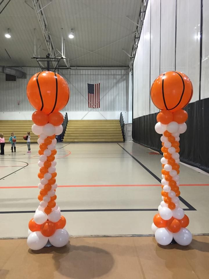 Basketball Balloon Columns  Balloonatics LLC Creations