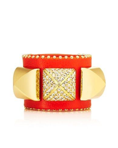 Juicy Couture Pave Pyramid Leather Cuff