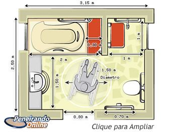 Banheiro 2x2 planta