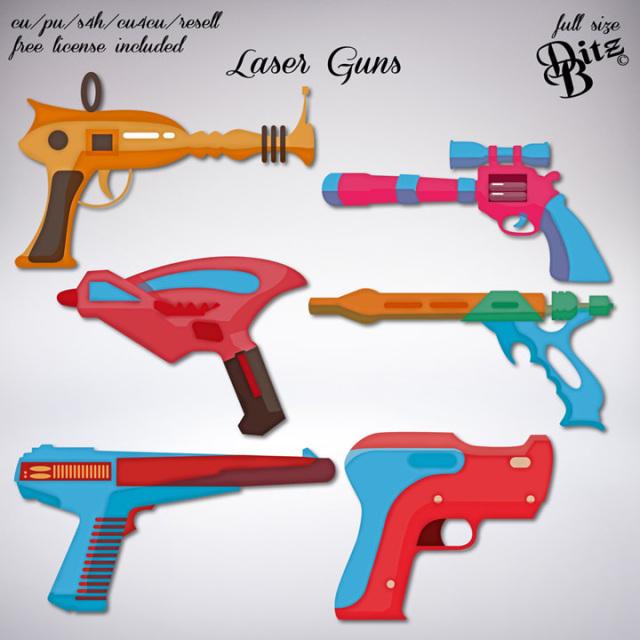 Laser Guns Digital Scrapbooking Scrapbook Supplies Digital