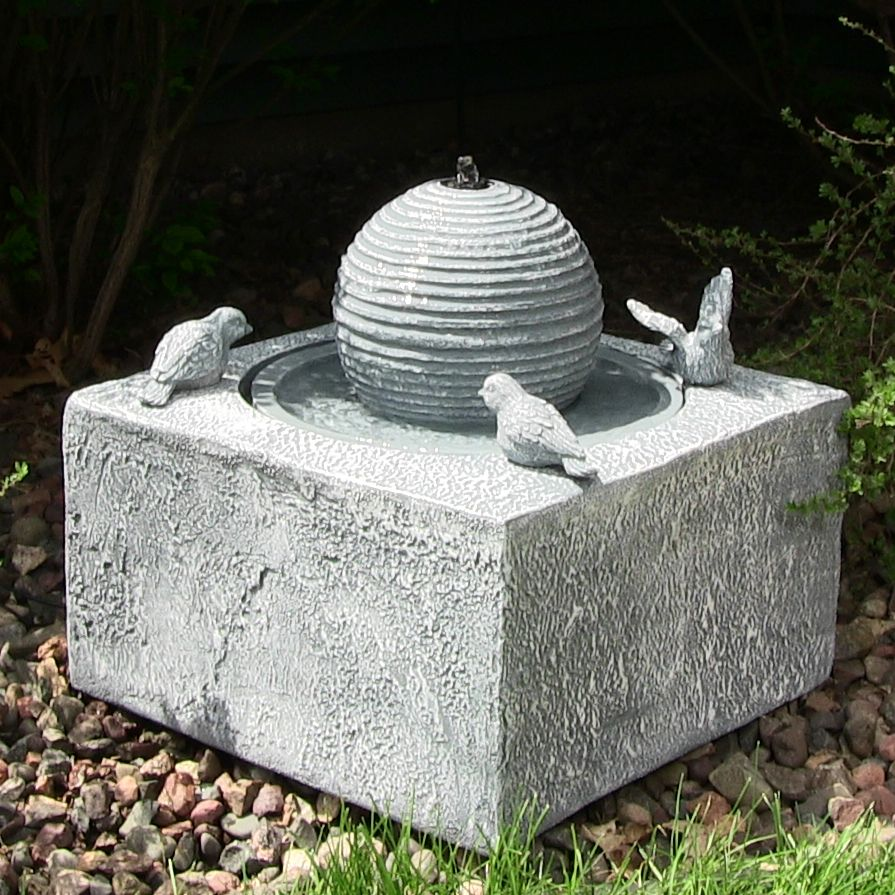 Outdoor Classics Birdbath Ball Solar On Demand Fountain