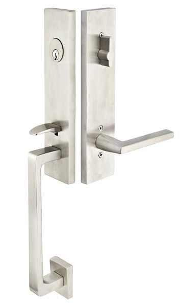 emtek stainless steel davos dummy handleset hardware pinterest
