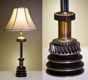 Lamp made from engine parts!! Awesome!!