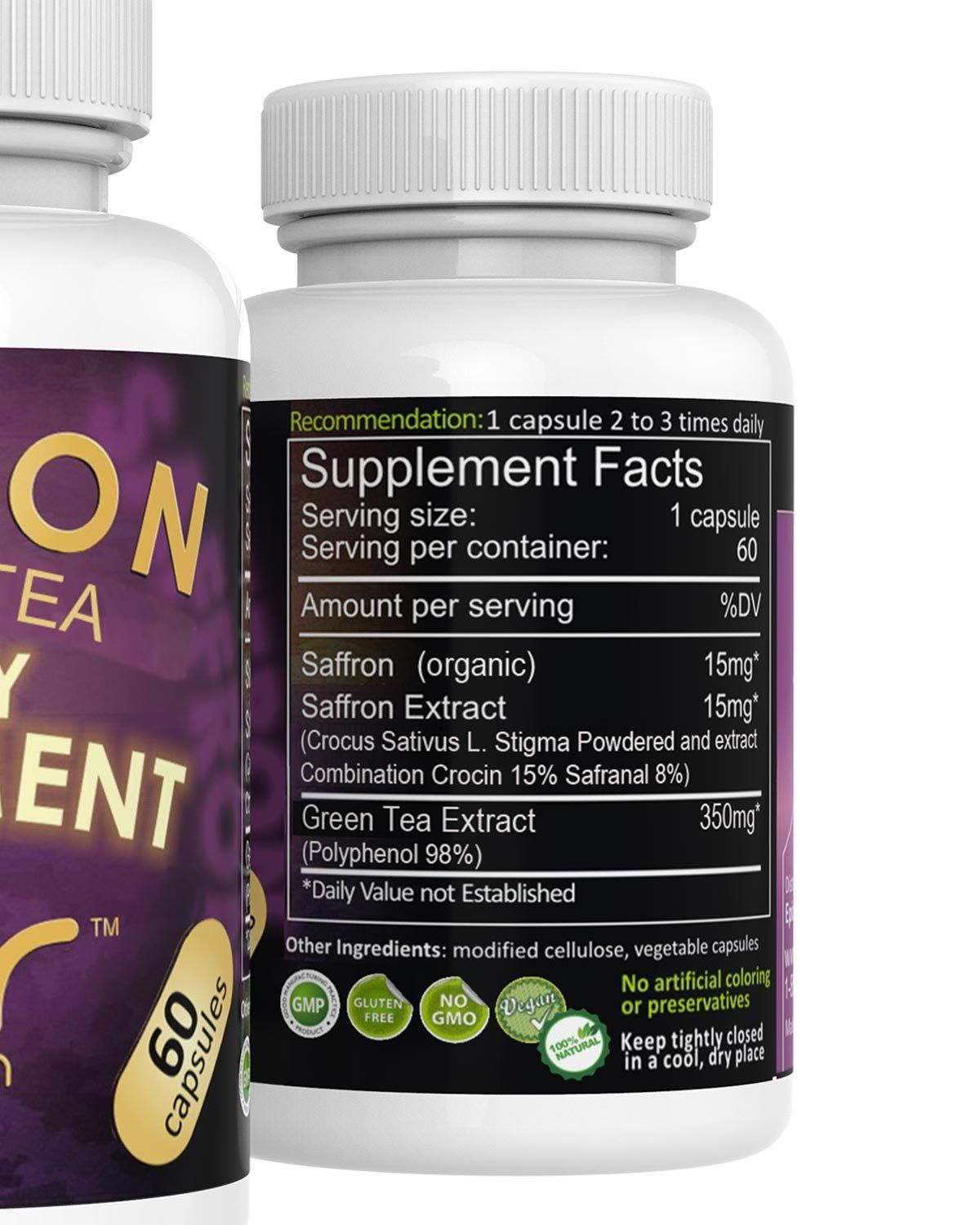 Green Tea Extract Supplement With Egcg Saffron Saffron Extract