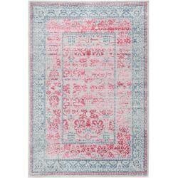 Photo of benuta rug Visconti gray / pink 80×150 cm – vintage rug in used look benuta