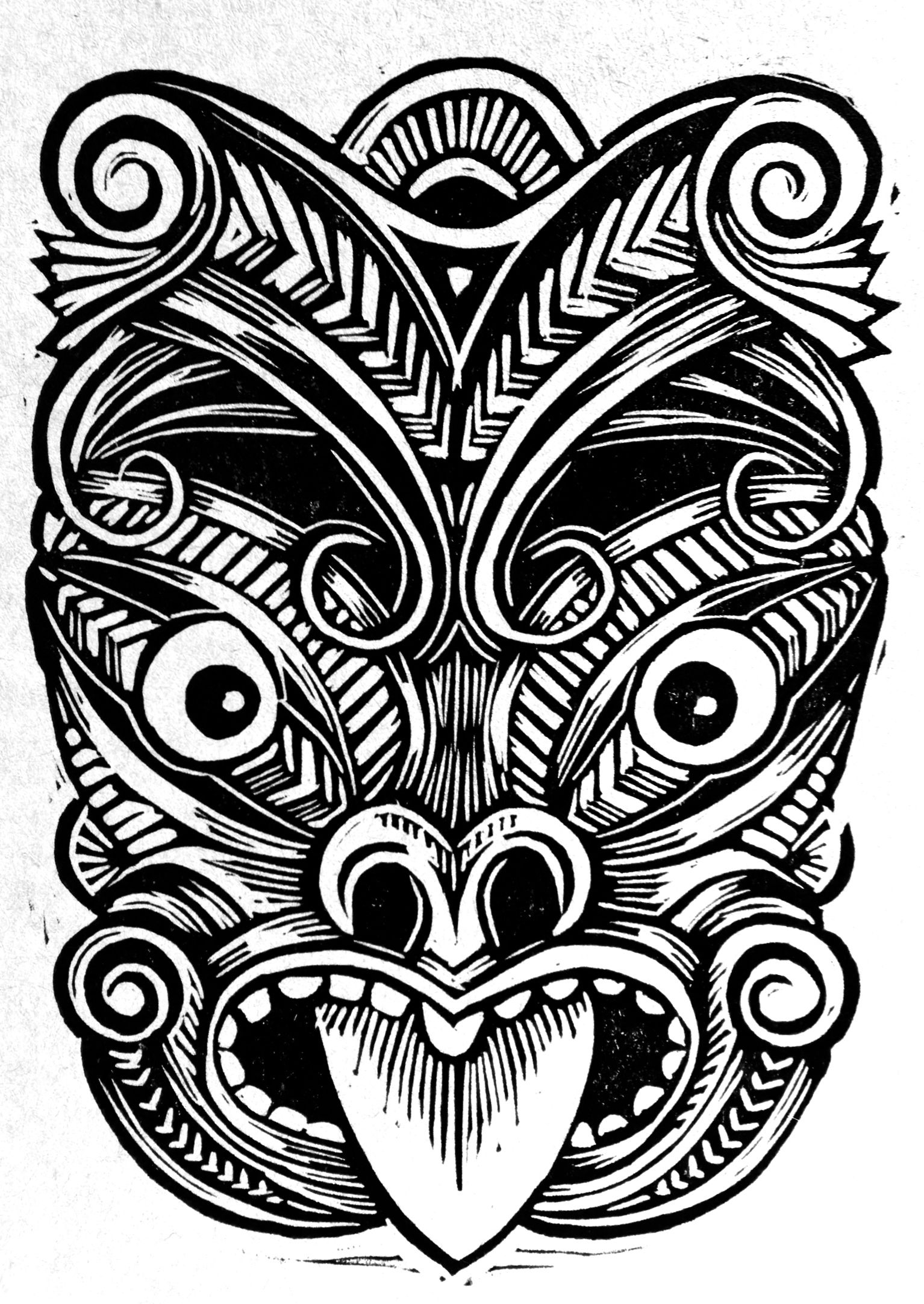 645182616 Maori Mask | Things for camp | Hawaiian tattoo, Tiki tattoo, Maori ...