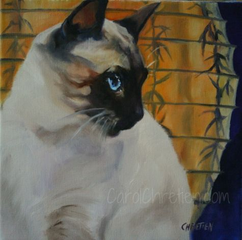 Lantern Light By Carol Chretien Siamese Cat Cat Japanese Lanterns Blue Eyes Painting By Artist Art Helping Animals Watercolor Cat Cats Artists Siamese Cats
