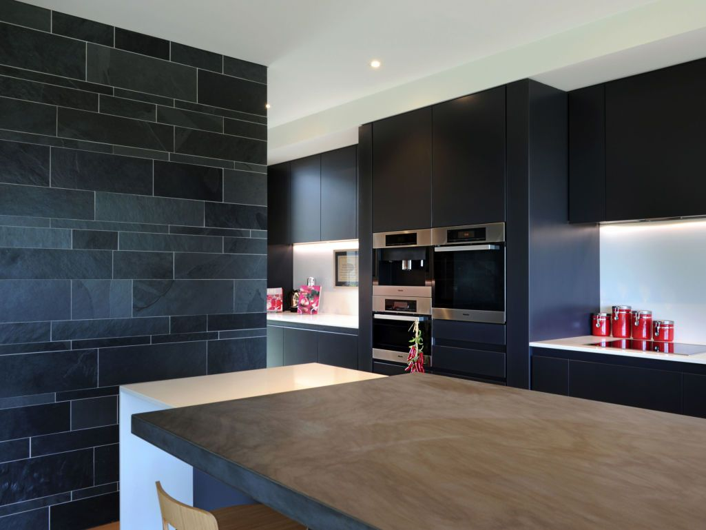 Eco Outdoor Abyss Split Stone Walling Internal In Contemporary Kitchen  Design, Papesch Architecture. |
