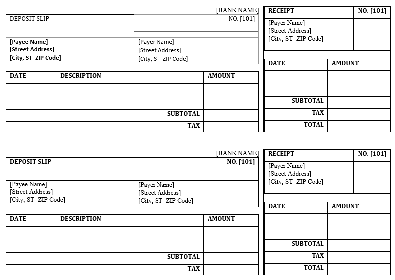 Cash Deposit Slip Templates 11 Free Docs Xlsx Pdf Receipt Template Excel Templates Templates
