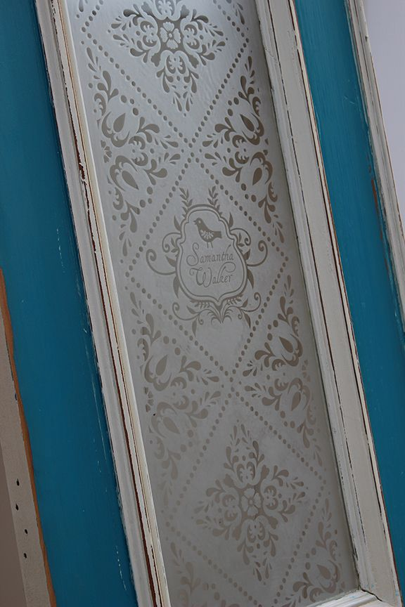 Incredible Glass Etching Project Antique Doors Using Vinyl Stencils And Cream