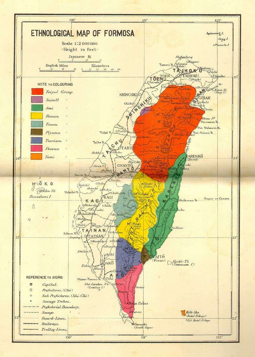 Ethnological Map of Formosa World of Maps