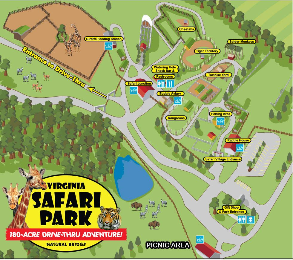 Virginia Safari Park Map Homeschool field trips